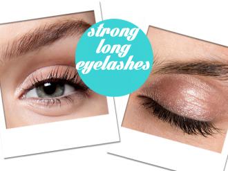 strong long eyelashes
